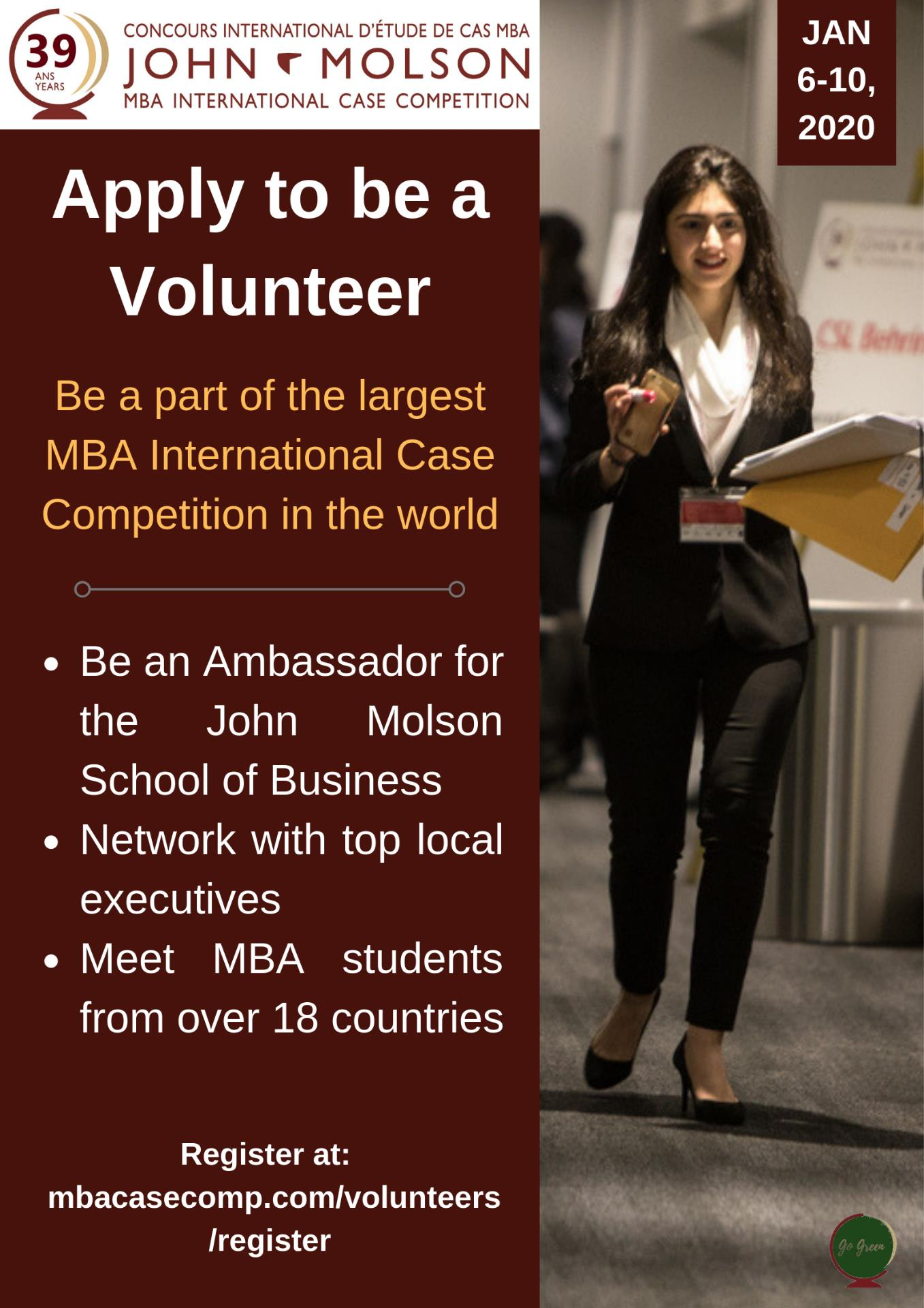 Be a volunteer at MBA ICC 2020!